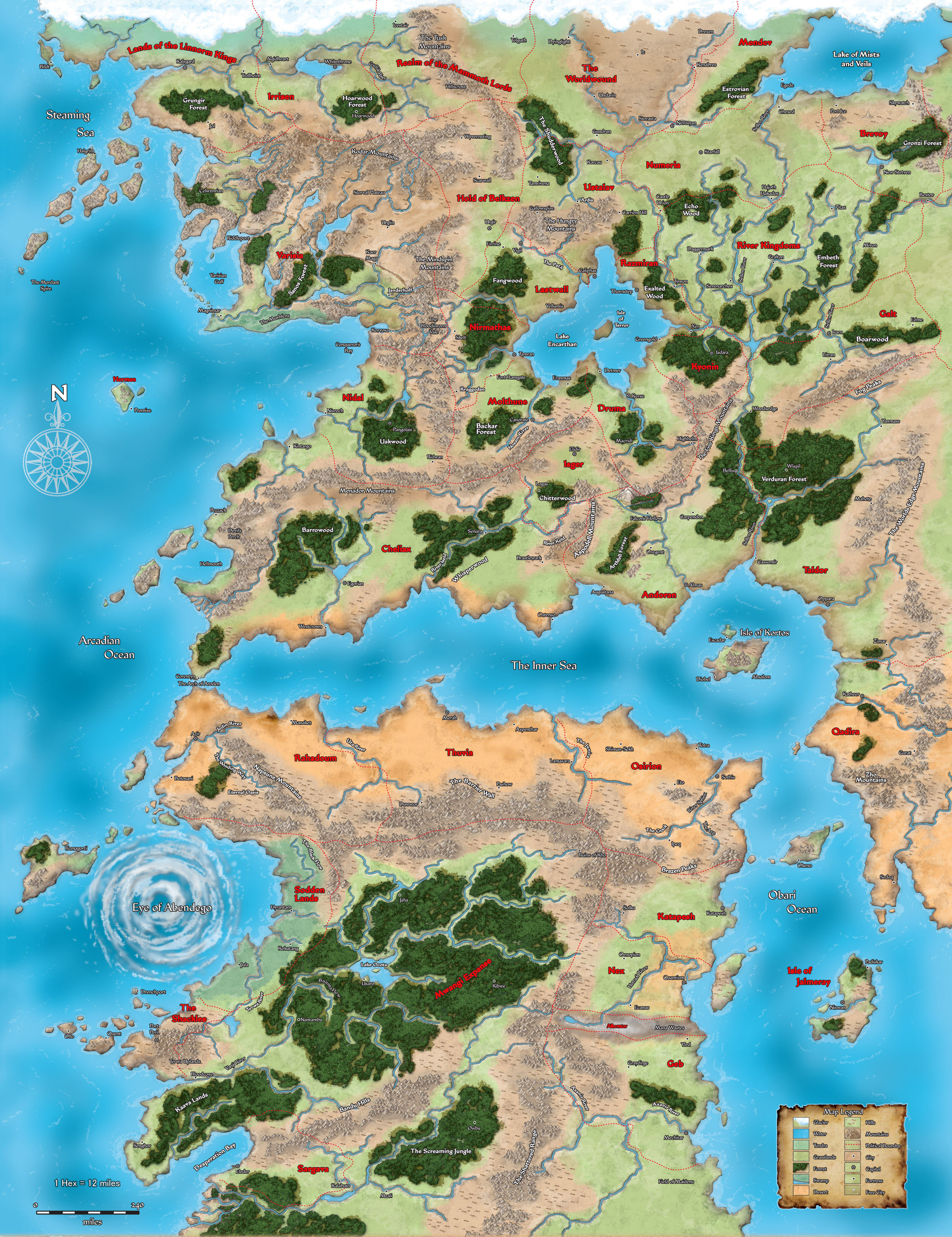 Looking for world map with Nations borders. : Pathfinder_RPG